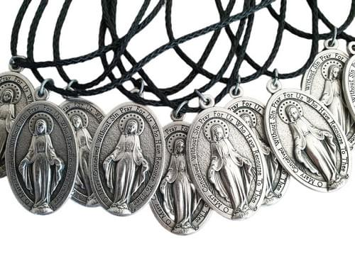 XL Miraculous Medals on a Cord (English/Latin)