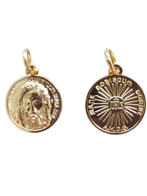 Holy Face of Jesus Medal, (Gold) , 1.8 cm
