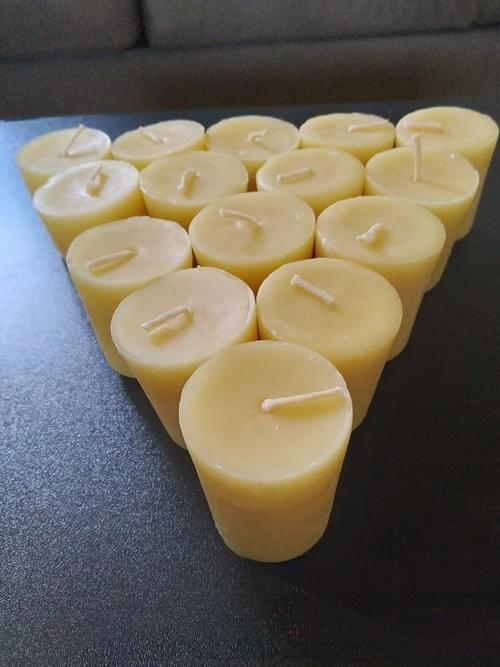 100% Beeswax Votive Candles, 3 Days Of Darkness Candles, 15 hrs Burn time