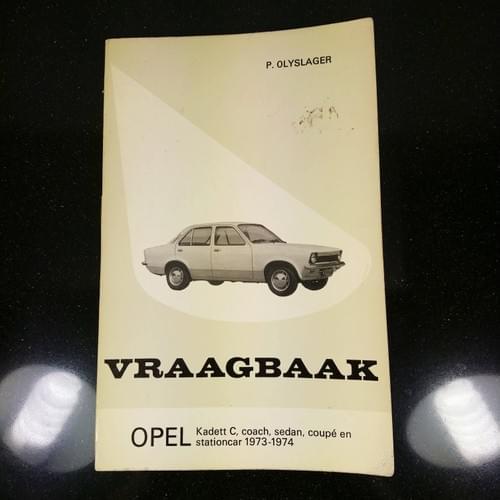Vraagbaak Opel Kadett C 1973-74