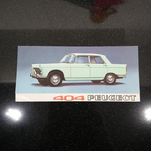 Peugeot 404 Berline flyer