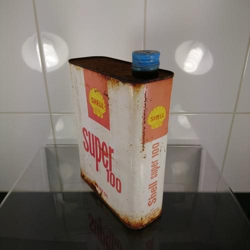 Shell Super 100 olieblik, jaren '60