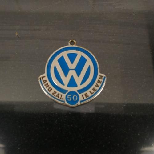 Herdenkingsmunt/hanger Volkswagen 50 jaar