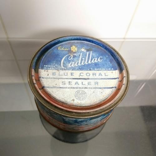 Cadillac Blue Coral sealer blik