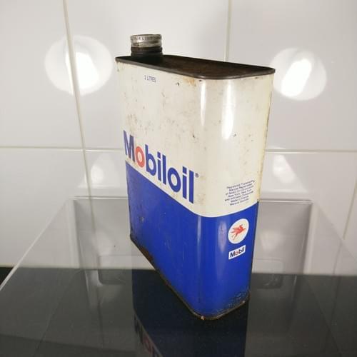Mobiloil olieblik, jaren '60