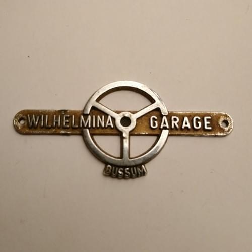 Badge Wilhelmina Garage Bussum