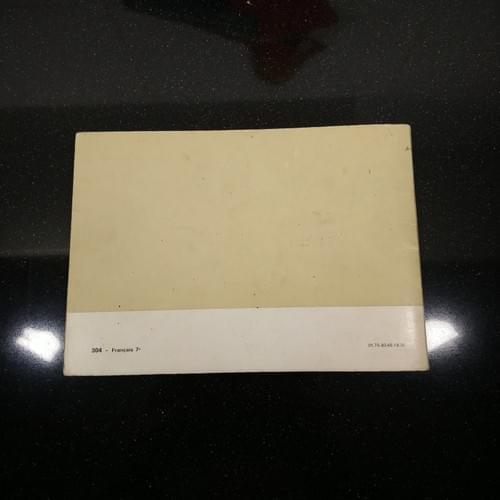 Peugeot 304 gebruikershandleiding