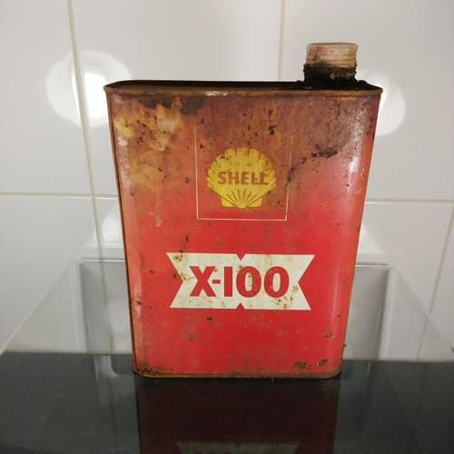 Shell X-100 olieblik, jaren '70