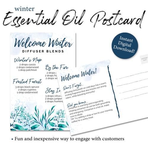 Winter Essential Oil Diffuser Postcard