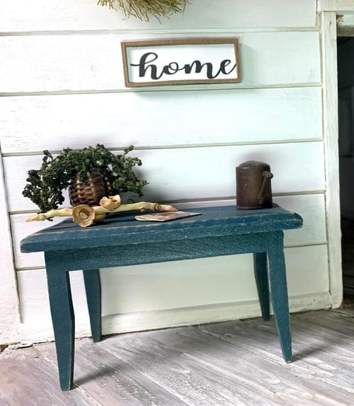 Miniature Home Sign - Wall Decor - 1:12 Scale