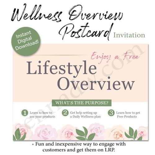Wellness Overview Postcard Invitation