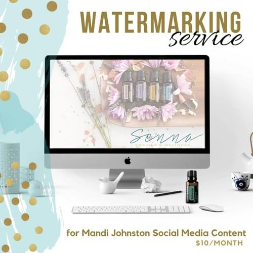 Social Media Watermarking Service - ONE MONTH 1