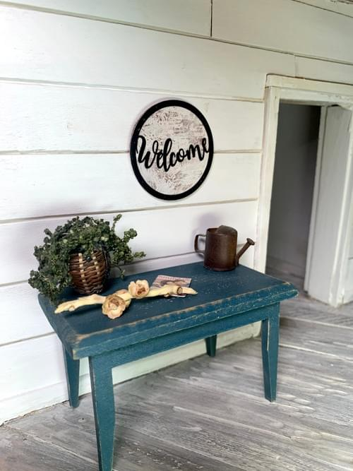 Miniature Welcome Sign - Wall Decor - 1:12 Scale