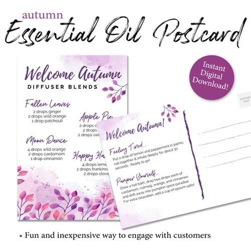 Autumn Essential Oil Diffuser Postcard
