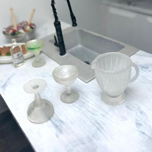 Miniature Margarita Set EMPTY - 1:12 Scale
