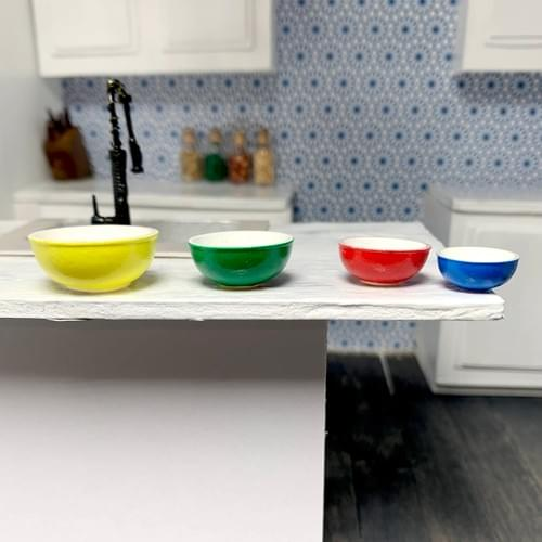 Pyrex Mixing Bowls; Primary Colors; 1:12