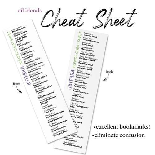 doTERRA Blends Cheat Sheet DOWNLOAD