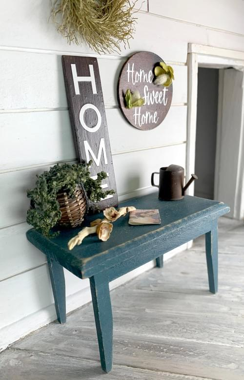 Miniature Home Sweet Home Sign - Wall Decor - 1:12 Scale