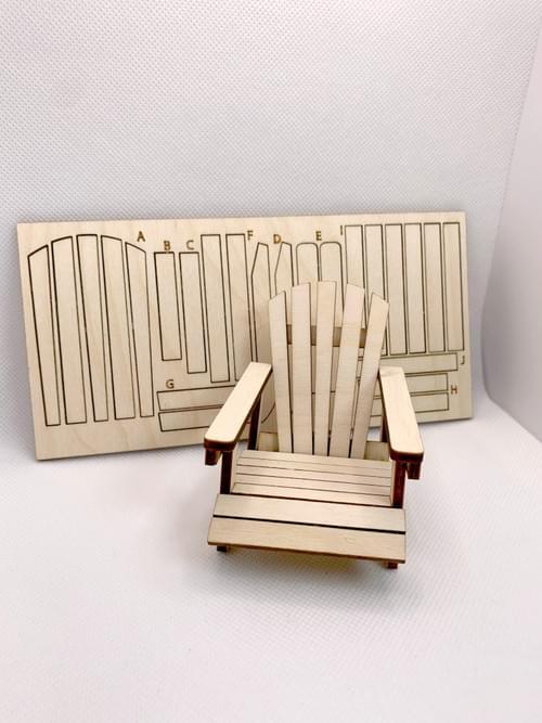 Miniature Adirondack Chair DIY | 1:12 Scale.