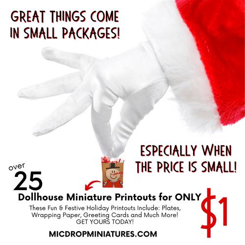 Dollhouse Miniature  Holiday Printouts