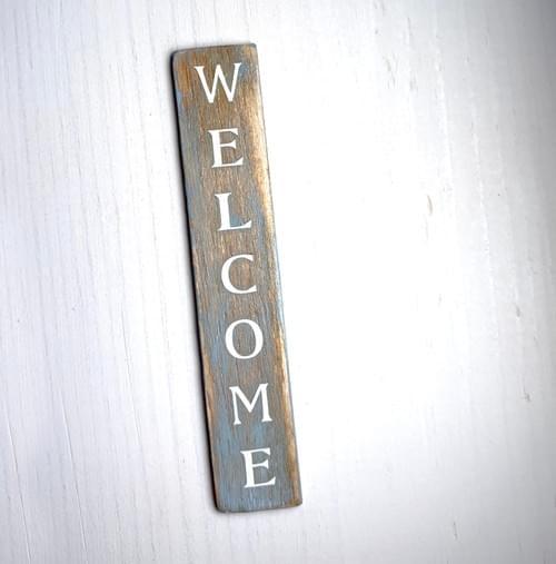 Miniature Front Door Welcome Sign - 1:12