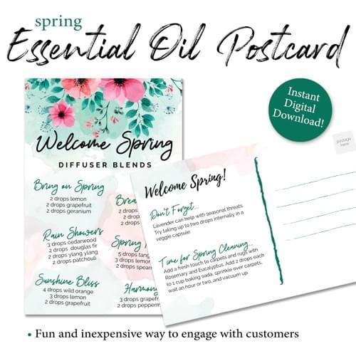 Spring Essential Oil Diffuser Postcard