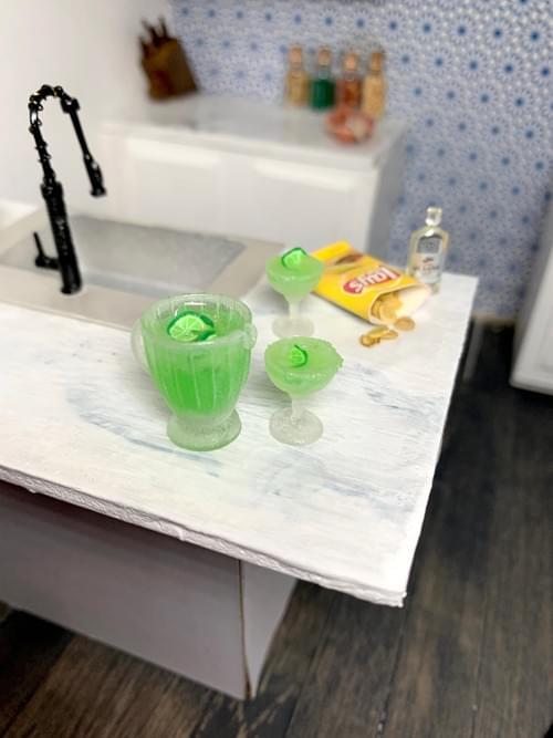 Miniature Margarita Set - 1:12 Scale
