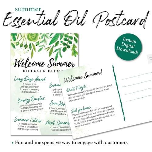 Summer Essential Oil Diffuser Postcard