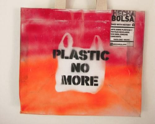 Plastic No More naranja • by Letra K