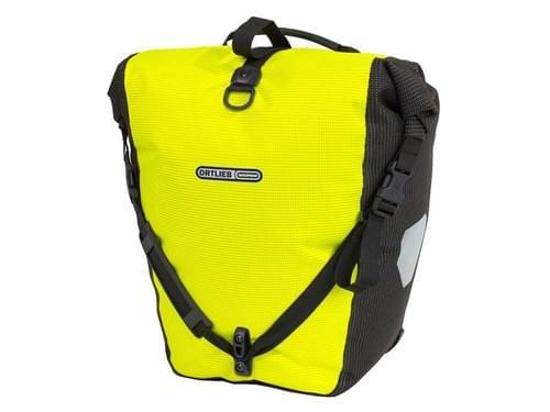 Ortlieb enkele tas achter fluo/zwart