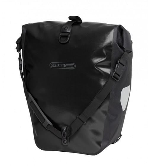 Ortlieb enkele tas achter zwart
