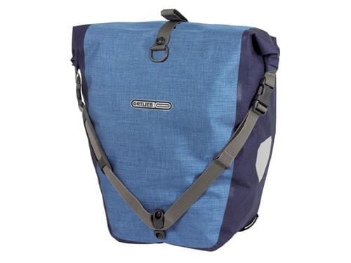 Ortlieb dubbele tas achter denim blauw