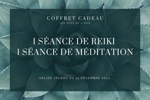 Coffret Découverte - 1 séance de Reiki + 1 séance de méditation guidée (20 mn)