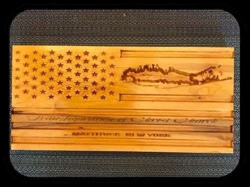 Handcrafted Long Island Flag
