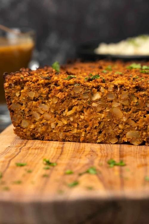 Vegetarian Nut Roast with Marinara sauce