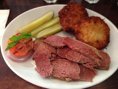 Corned Beef & potato Latkes