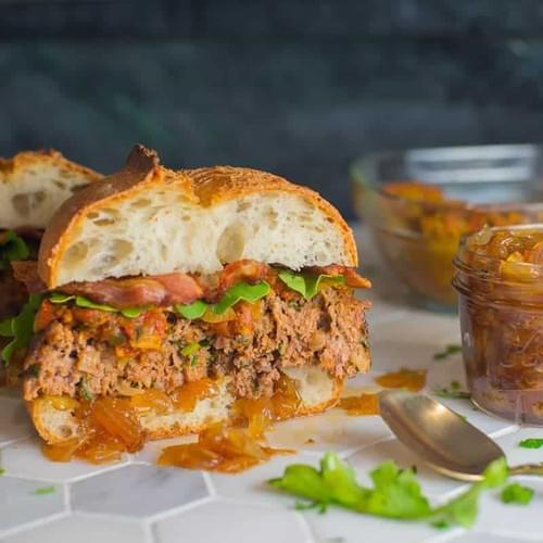 Monster Meatloaf Sandwich