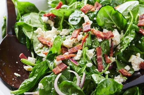 Spinach, Bacon, & blue cheese salad