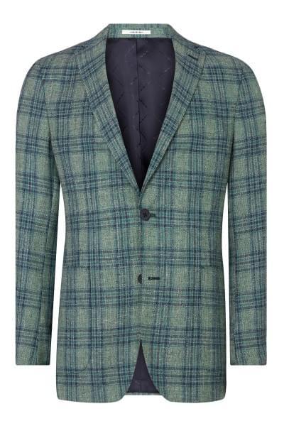 Elray checked jacket Green