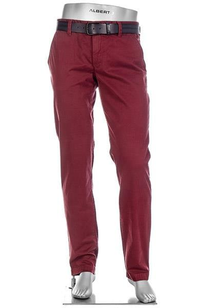 Red slim fit chinos by ALBERTO