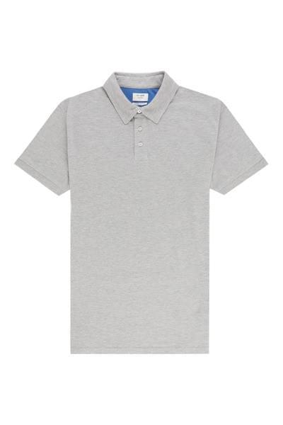 Sergio plain tailored fit polo Light Grey