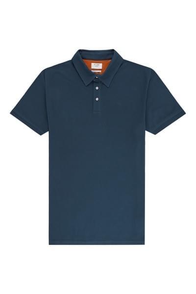 Sergio plain tailored fit polo Dark Blue