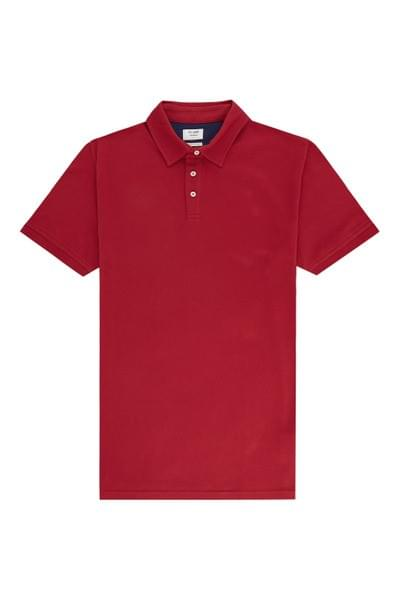 Sergio plain tailored fit polo Red