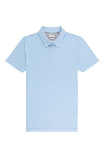 Sergio plain tailored fit polo Light Blue