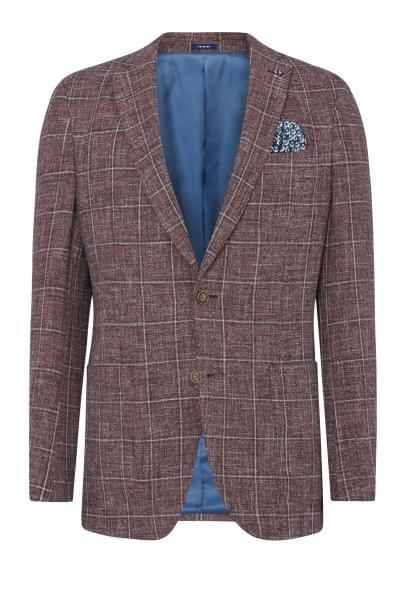 Elray checked jacket Dark Red