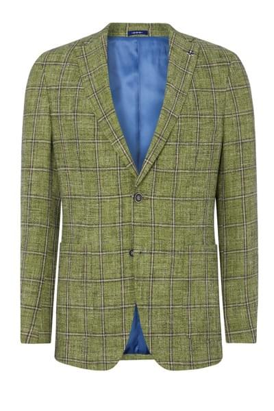 Elray checked jacket Green