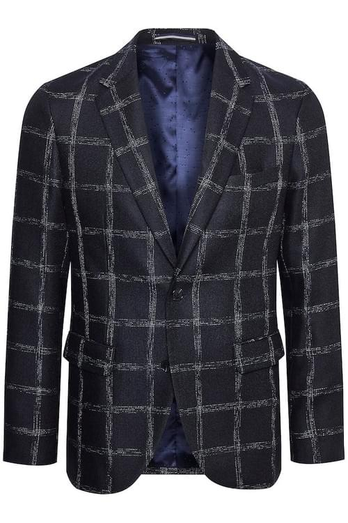 MATINIQUE MAGEORGE NAVY CHECK BLAZER