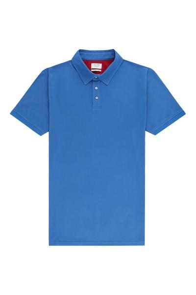Sergio plain tailored fit polo Blue