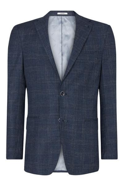 Elray checked jacket Dark Blue