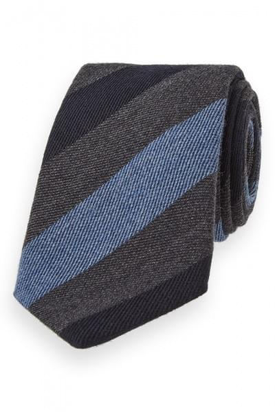 Knitted tie with stripe pattern Blue